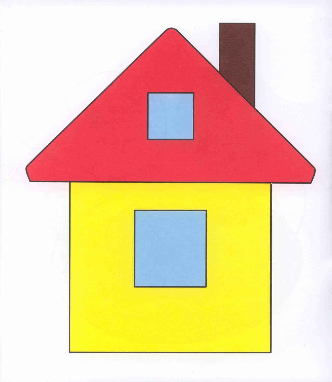Домики из цветной бумаги